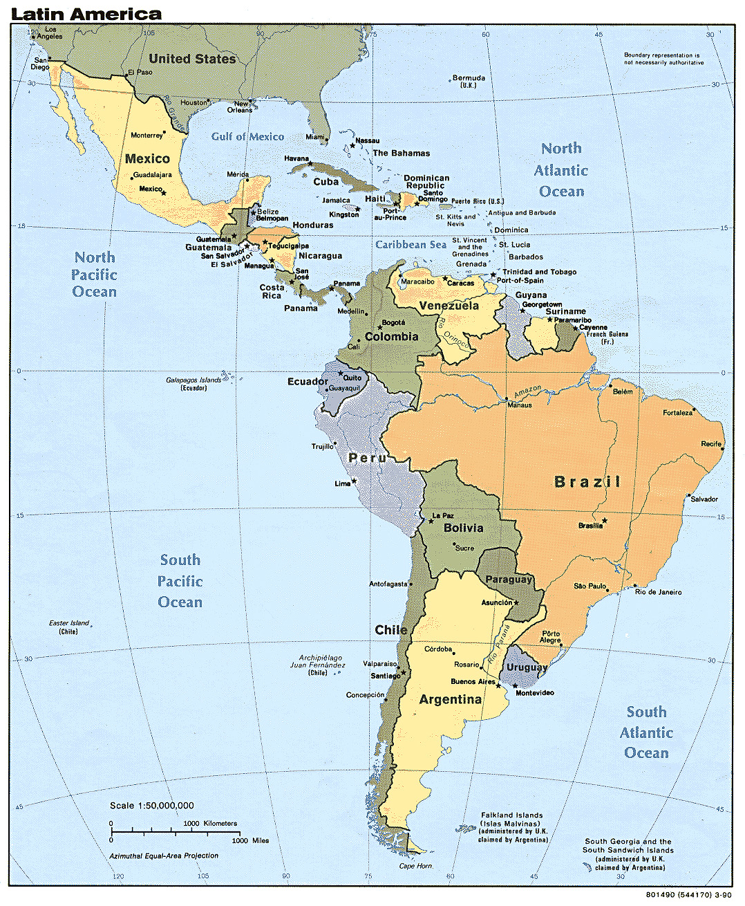 under spanish speaking map countries ground