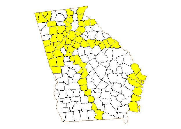 County Map ProjectGeorgia - Georgia map project