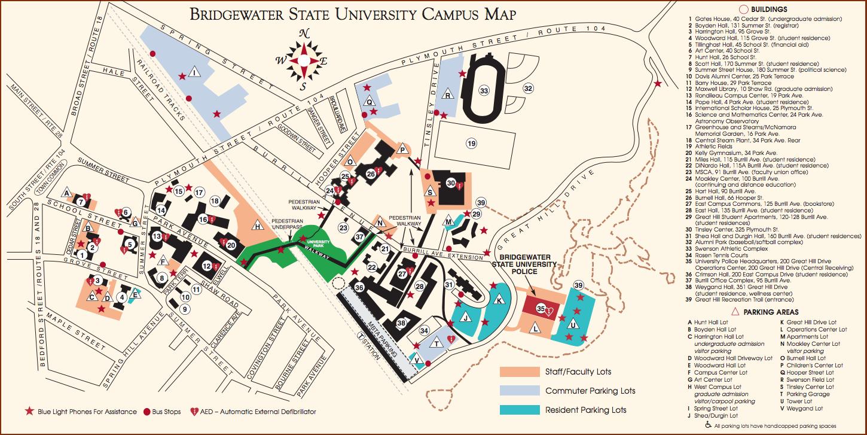Bridgewater State University Campus Map | Park Map
